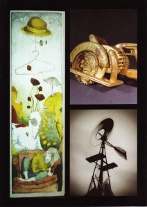LTCC flyer for the show (the top right image is Karl Schwiesow's work)
