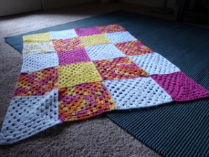 20 squares become one for baby
